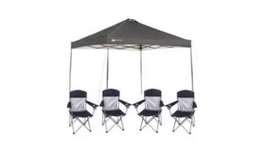 Ozark Trail 10x10 Canopy with 4 Basic Mesh Chairs Value Bundle for $69 at Walmart  sc 1 st  The Best Deals Club & Ozark Trail 12×12 Slant Leg Instant Canopy/Gazebo Shelter with 4 ...