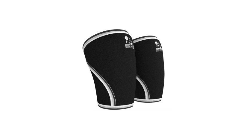 1 Pair Knee Sleeves Support & Compression for Weightlifting Powerlifting & CrossFit 7mm Both Women & Men