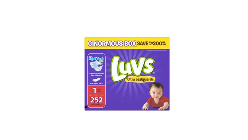 1252 Count Luvs Ultra Leakguards Newborn Diapers Size