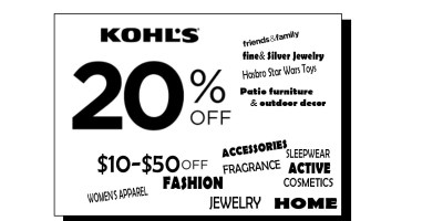 Extra 20% off at Kohs and more coupons