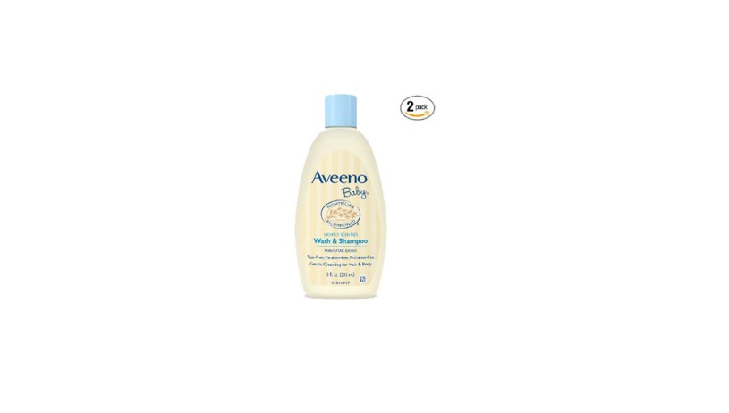 Pack of 2 8 Oz Aveeno Baby Wash & Shampoo For Hair & Body Tear-Free