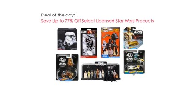 Deal Of The Day – Save Up to 77% Off Select Licensed Star Wars Products