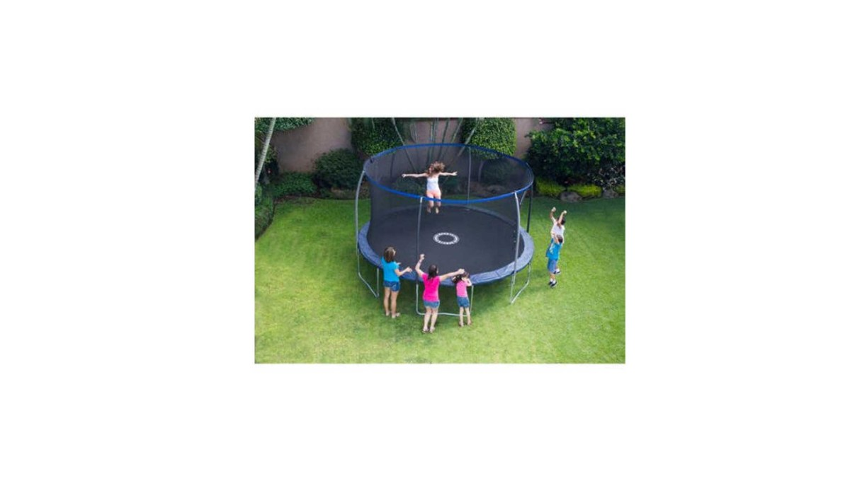 BouncePro 14' Trampoline with Proflex Enclosure and Electron Shooter Game for $189 at Walmart