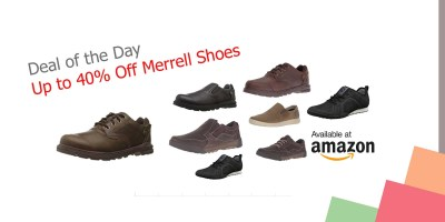Deal of the Day – Up to 40% Off Merrell Shoes