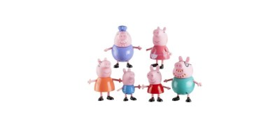 6-Pack Peppa Pig Family Figures