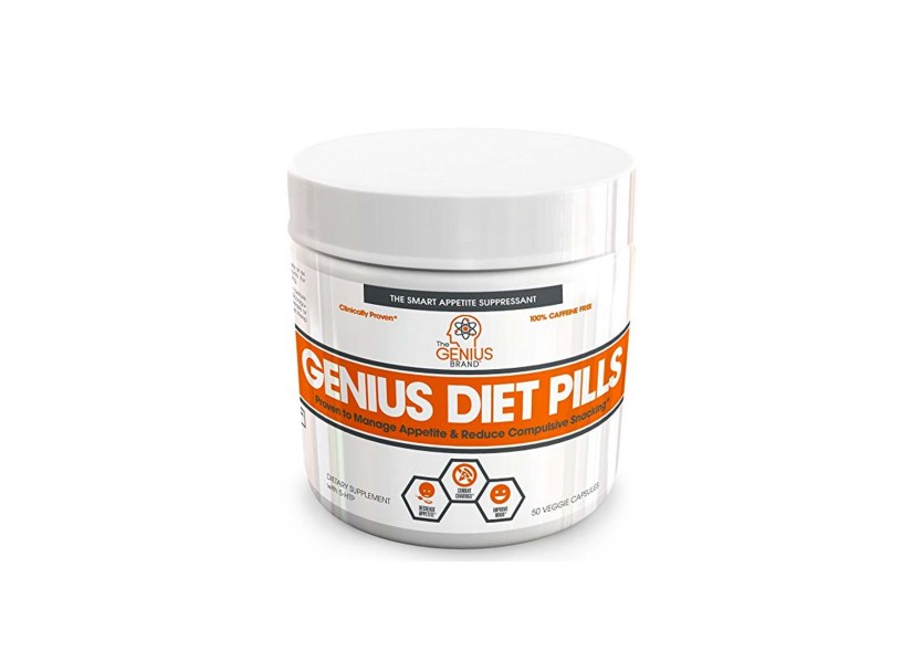 GENIUS DIET PILLS – The Smart Appetite Suppressant for Safe Weight Loss (50 Veggie Caps)