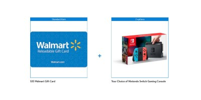Nintendo Switch Console with Bonus $35 Walmart Gift Card