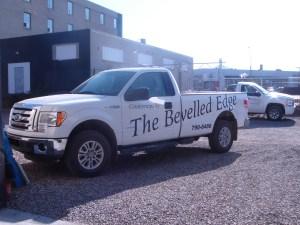 Bevelled Edge Truck Bevelled Edge a Regina, Saskatchewan granite, quartz, laminate  countertop company