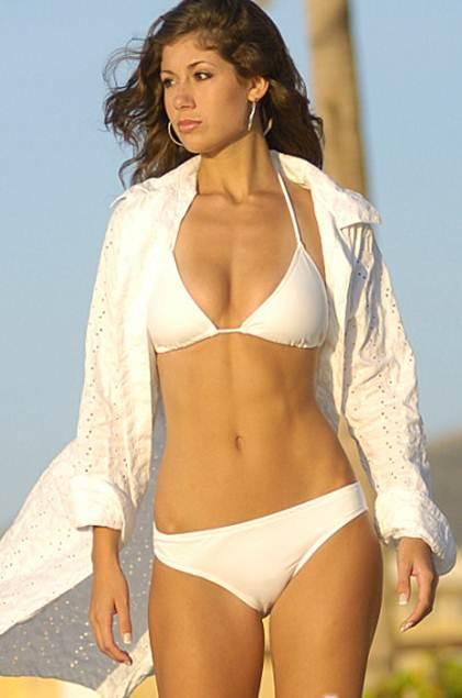 Black Colombian Bikini Scoop Front String Bikini Top