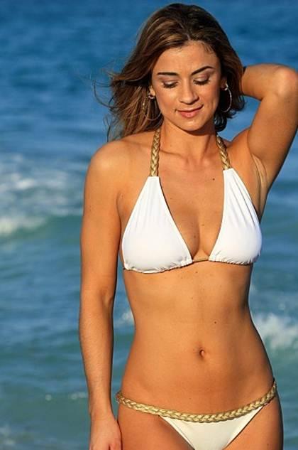 Braided White Grecian Braided Bikini