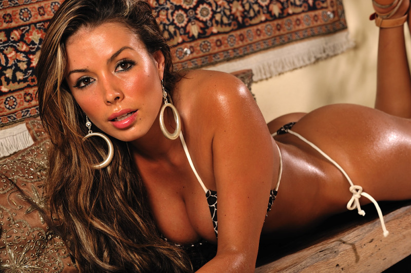 Leopard G String Bikini