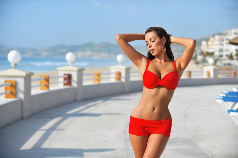Red Booty Short Sport Bikini