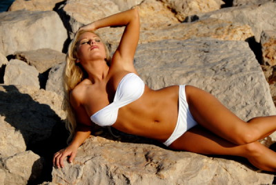 White Bandeau Bikini