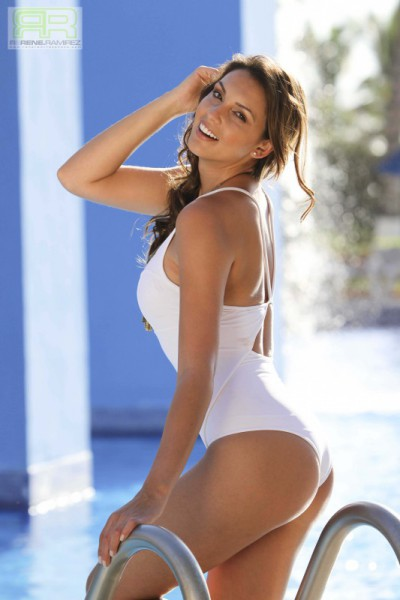 White Sheer One Piece Swimsuit
