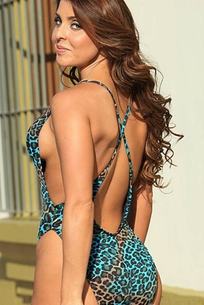 Animal Print High Cut One Piece Swimsuit-3