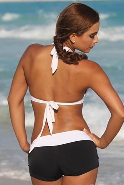 Sport Bikini Black and White