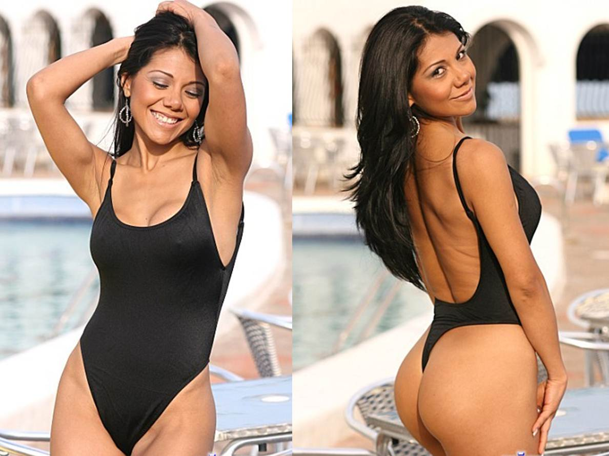 How to Buy your Girlfriend a Thong Bikini Black One Piece Thong Swimsuit