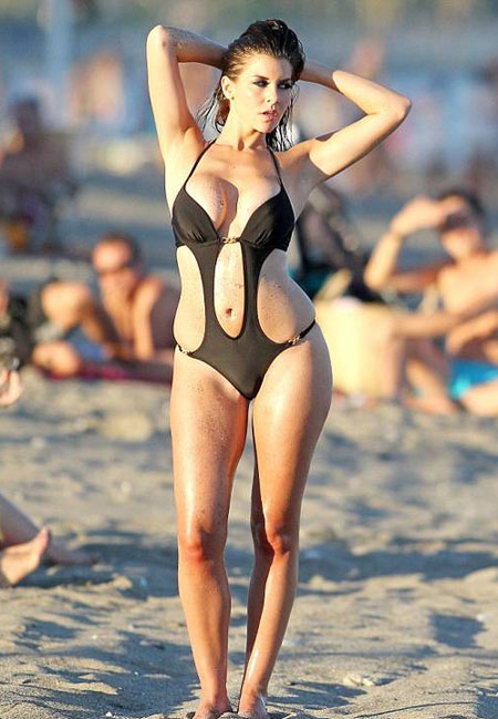 Imogen-Thomas-cut-out-one-piece-swimsuit