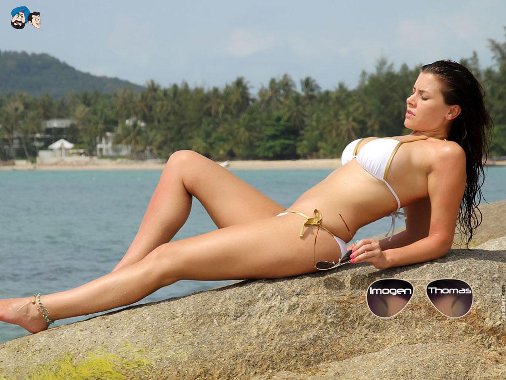 imogen-thomas-white bikini
