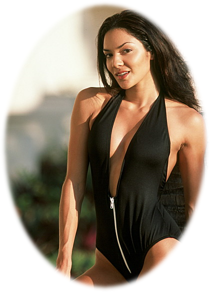 high thigh one piece with zipper in black
