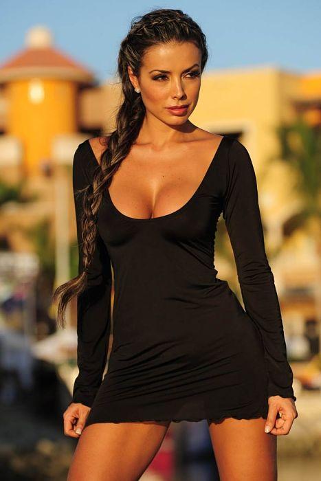 Silky-Bikini-Cover-Ups-Sexy-Plunging-Neckline-Hip-Length