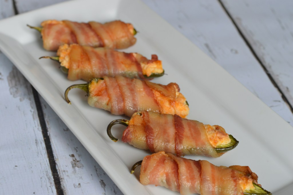 Spicy Bacon Wrapped Jalapeno Poppers