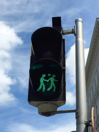 Ampel in Wien