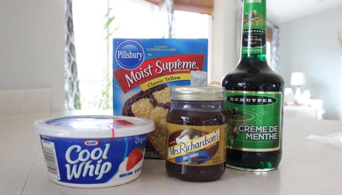 Mint Chocolate Cake (Creme de menthe Cake)