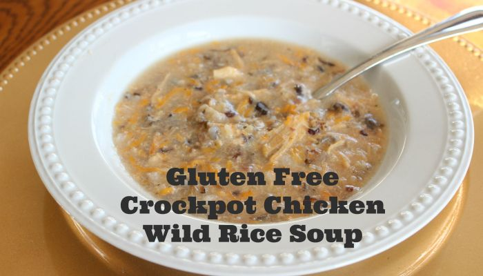 Crockpot Creamy Chicken Wild Rice Soup Gluten Free