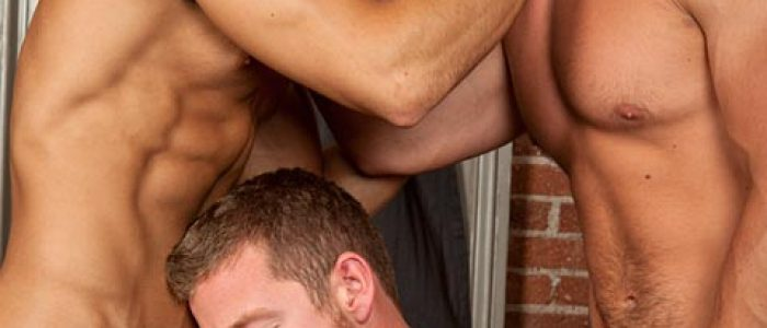 Jayden Tyler getting double penetrated by Caleb Strong and Sean Zevran @ Randyblue.com