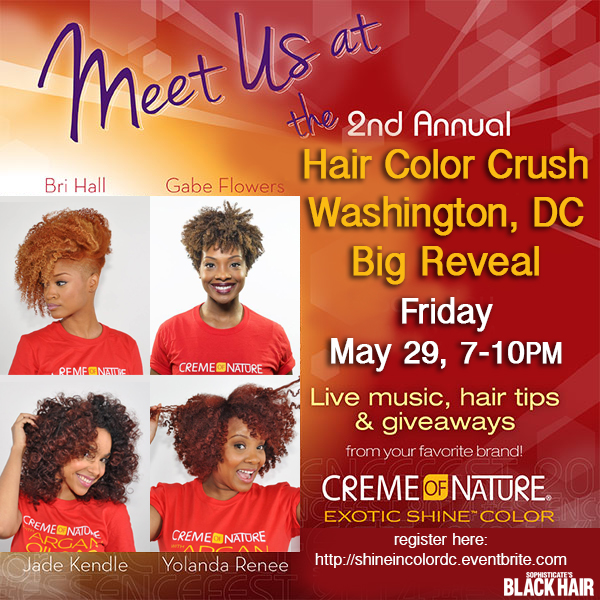 Creme of Nature ® to host 2015 Hair Color Crush Big Reveal in DC [EVENT]