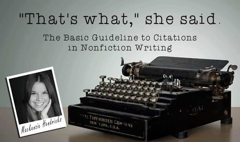 The Basic Guideline to Citations in Nonfiction Writing
