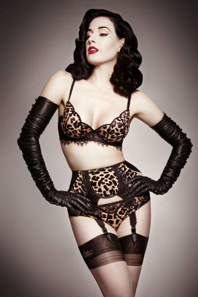 Dita Von Teese lingerie tulip cheetah lookbook high res