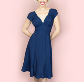Trashy Diva 1940's Navy Dress