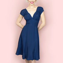 Trashy Diva 1940's Navy Dress