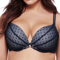 Ashley Graham Underwire Push-Up Plunge Bra