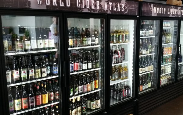 Great selection of ciders