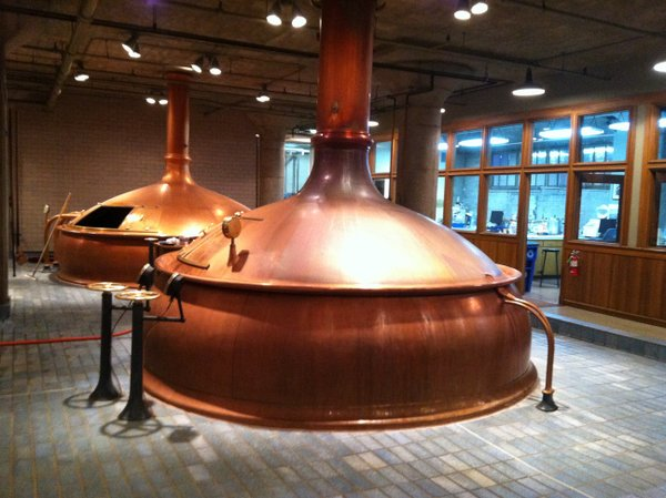 Anchor Brewing copper tanks