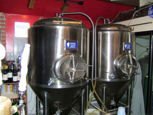 The Brewery at Lake Tahoe fermenters