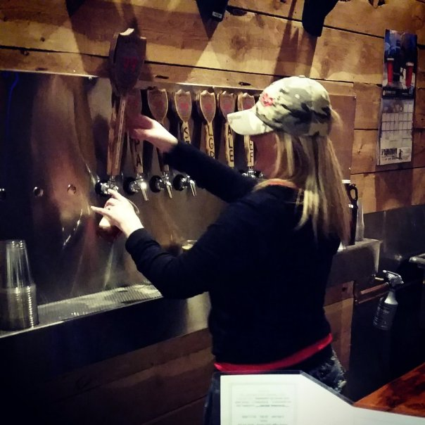 Bridge 99 tasting room and bar, Angel pouring