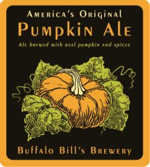 Buffalo Bill's Pumpkin Ale label