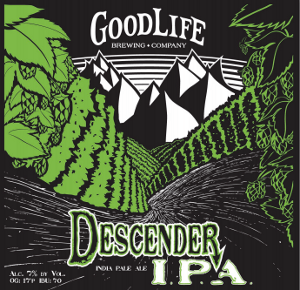 GoodLife Descender IPA label