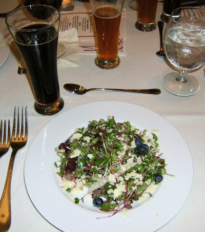 Deschutes Chocolate Beer Pairing Dinner: salad