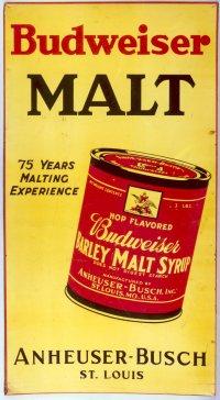 Anheuser-Busch Prohibition-era Budweiser malt ad