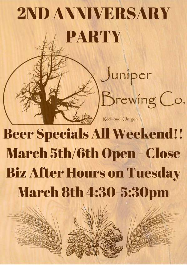 Juniper Brewing second anniversary