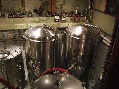 Laurelwood brewing tanks