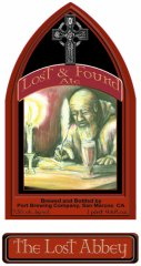 Lost and Found Abbey Ale label