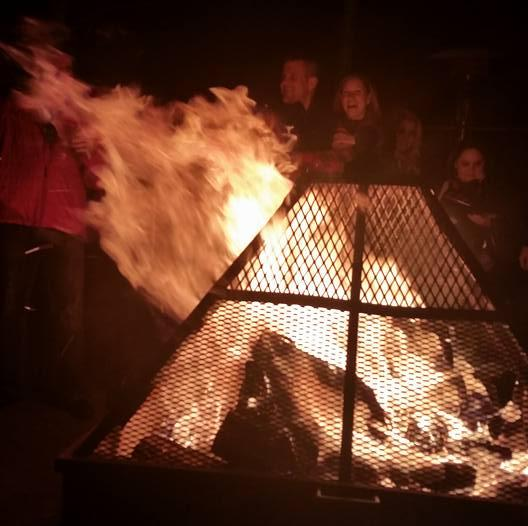 O'Kanes firepit at McMenamins Old St. Francis School