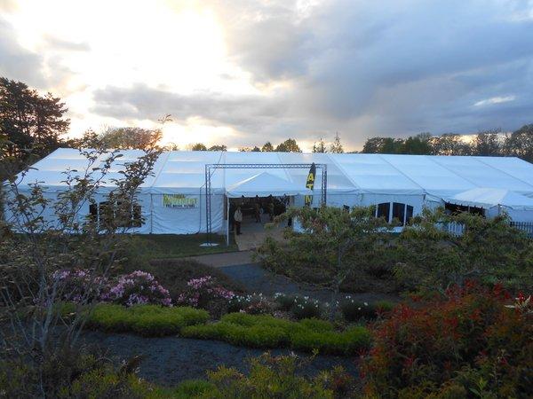 Oregon Garden Brewfest at twilight