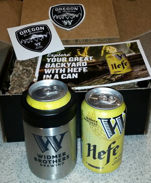 Received: Cans of Widmer Hefeweizen